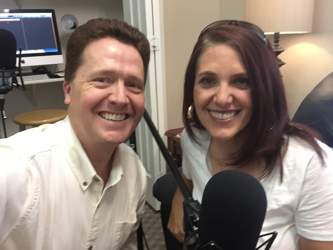 Lisa Killian Cook with Dr. Paul Jenkins at Live On Purpose Radio