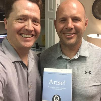 Brett Walker with Dr. Paul Jenkins