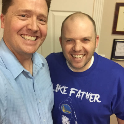 Kevin Clayson with Dr. Paul Jenkins