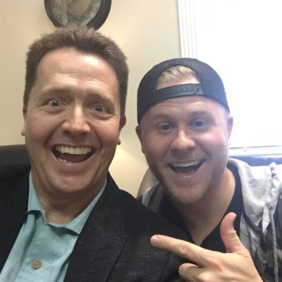 Clint Pulver with Dr. Paul Jenkins