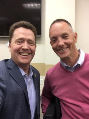 Jason Hall with Dr Paul Jenkins